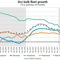 Dry Bulk Fleet Growth (Photo: BIMCO)