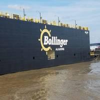 Drydock Mrs. Jody arrives at Bollinger Algiers. (Photo: Bollinger Shipyards)