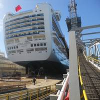 Drydocked Princess during refit