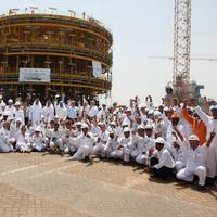 Drydocks World marks key milestone in completing the world's largest turret