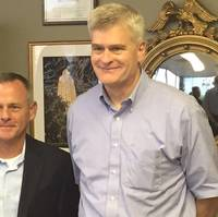 DSC Dredge President / CEO Bob Wetta (left) stands with Senator Bill Cassidy from Louisiana on September 1, 2016. (Photo: DSC Dredge)