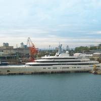 'Eclipse' in Trieste: Photo credit Fincantieri