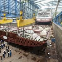 Keel-laying Norwegian Getaway: Photo credit Meyer Werft