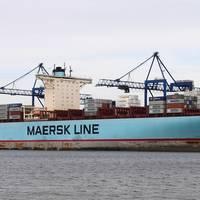 Eleonora Maersk, an E-class vessel  (Photo by Łukasz Golowanow)