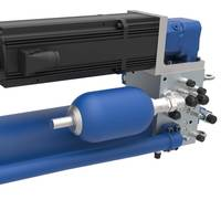 Stand-alone self-contained electro-hydraulic servo axis (SHA): Functionalities identical to that of electromechanical variants. (Image: Bosch Rexroth)