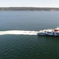 Enetai is a new catamaran ferry due to enter the Kitsap Transit fleet in a few weeks. Photo: BMT