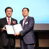 Eric Sung, President and CEO of Intellian receives 'World Class 300' certificate Photo Intellian