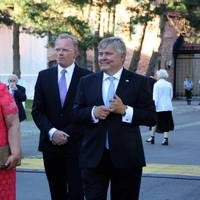 Erna Solberg & Henrik O. Madsen at DNV GL party Oslo: Photo DNV GL
