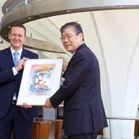 Felix Eichhorn, President AIDA Cruises, with Shunichi Miyanaga, President and CEO MHI (Photo: AIDA Cruises)