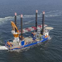 Offshore installation vessel Aeolus. Photo: Van Oord