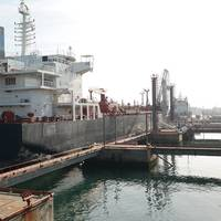 File Image: a product tanker loads at berth (Transnet)