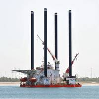 File Image: A typical shallow water jackup rig (CREDIT: Cathelco)