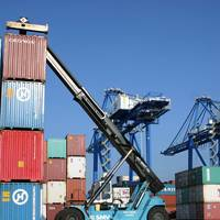 File Image: container operations underway ashore (Port of Wilmington)