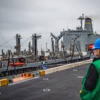 File Image: US Navy vessels condust Unrep Operations (CREDIT: Nicholas Burgains)