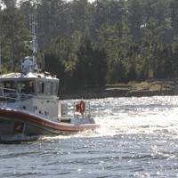 File photo: a 45-foot Response Boat - Medium (U.S. Coast Guard photo by David Weydert)