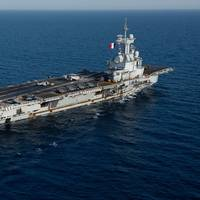 File photo: French Marine Nationale aircraft carrier FS Charles de Gaulle (F 91) transits the Red Sea, April 15, 2019. (U.S. Navy photo by Skyler Okerman)