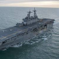 File photo: The amphibious assault ship USS Wasp (LHD 1) (U.S. Navy photo by Levingston Lewis)
