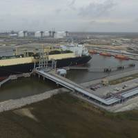 File photo: The first commissioning cargo is loaded at the Sabine Pass LNG Terminal in February 2016 (Photo: Cheniere Energy)
