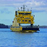 Finferries 65 metre double ended ferry, the Stella, which operates between Korpo and Houtskär in Finland will undertake a series of tests of sensor arrays in a range of operating and climatic conditions. (Photo: Rolls-Royce)