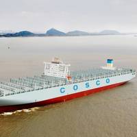 Five new COSCO container vessels will be equipped with twenty Wärtsilä Auxpac 32 generating sets. (Photo courtesy of COSCO)