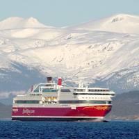 """Fjord Line's cruise ferry Stavangerfjord was the vessel receiving Coralius' bunker number 200""; photographer: Geir Einarsen."