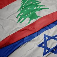 Flags of Lebanon and Israel (Credit:luzitanija /AdobeStock)