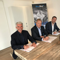 From left: Edwin Damen (General Counsel, RH Marine Group), Maarten Post (COO Radio Holland Group), Sil Hoeve (CEO STAR Group). (Photo: Radio Holland)
