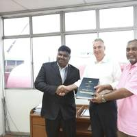 From Left: Rajalingam (RH Branch Manager), Alastair J Bisset (Chief Executive Officer, Destini Shipbuilding and Engineering) and Dato' Ashraf Ali (Director, Procurement & Business Development, Destini Shipbuilding and Engineering). (Photo: Radio Holland)