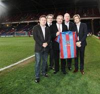 (From left to right) Crystal Palace owners Stephen Browett, Jeremy Hosking, Martin Long and Steve Parish with GAC's Executive Group Vice President Bill Hill (center).