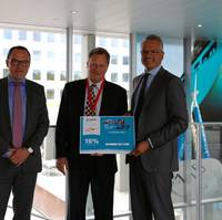 ​From left to right: Mark Guenter, Key Client Manager, Maersk Line; Michael Hansen, Global Head of Sales, Maersk Line; Cas Pouderoyen, Senior Vice President for Global Ocean Freight, Agility Logistics; Vincent Clerc, CCO, Maersk Line