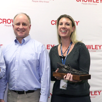 From left to right: Ray Martus, Tom Crowley Jr. and Zoe Goss (Photo: Crowley)