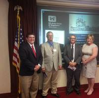 From left to right: Ryan Inmel, USACoE Mechanical Engineer; Michael Kelley, PMP, Senior Project Manager; John Carnley, Horizon Shipbuilding Project Manager; and Lana Smith, Contracts Administrator for Horizon.