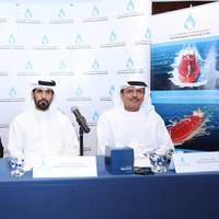 From right to left Mr. Khamis Juma Buamim, Group CEO, Abdulla Saeed Abdulla Brook Al Hemeiri, Chairman, and Ahmad Al Kilani, Board Member Photo Gulf Navigation