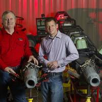 Gulfstream regional managers Bryan Duplantis and Jason Page with the Torque Through Swivels & Ball/Dart Pumping Heads.