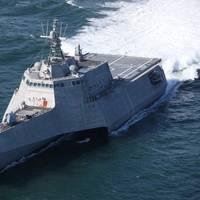 Future USSTulsa (#LCS 16) successfully completed acceptance trials March 9 in the Gulf of Mexico. Photo Austal
