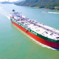 Gagarin Prospect, the world's first Aframax tanker designed to run on LNG, is one of 40 dual-fueled ships already delivered or under construction at HHI Group. The DNV GL classed vessel is owned by Russian ship operator Sovcomflot. (Photo: HHI Group)