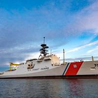 Ingalls Shipbuilding launched the National Security Cutter Midgett on November 22, 2017. The ship will be christened during a ceremony on December 9 (Photo: Lance Davis/HII)
