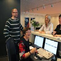 Geir Skjeret, Margit Nygjerde, Elisabeth Nytun Fredriksen and Anne Karin Nygjerde are happy to achieve employee bonus in ULSTEIN.