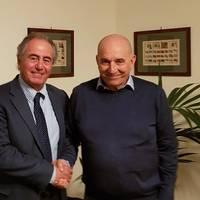 Giorgio Rizzo, Executive Vice President Fincantieri Services and Emanuele Grimaldi, CEO of Grimaldi Group. Photo courtesy Fincantieri