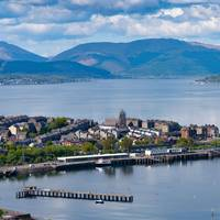Gourock pier drone picture. Photo supplied by and courtesy of CMAL
