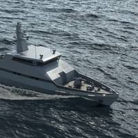 Graphical rendering of the OPV-45 (picture courtesy Israel Shipyards)