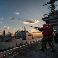 GW replenishment at sea: Photo credit USN