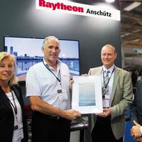 Handover ceremony of a certificate about the 15,000 Standard 22 during Posidonia 2014