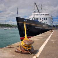 Hebridean Princess moored at ABP Port of Teignmouth.