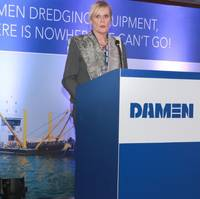 Her Excellency Leoni Cuelenaere, the Dutch Ambassador to Bangladesh (Photo: Damen)
