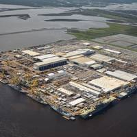 HII's Ingalls Shipbuilding division in Pascagoula, Miss., in June 2017 (Photo: Lance Davis/HII)