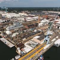 HII's Newport News Shipbuilding division (Photo: Ashley Cowan / HII)