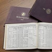 Historic ship registers. (Photo courtesy DNV GL)