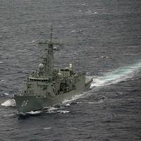 HMAS Newcastle (Royal Australian Navy photo by Brenton Freind)