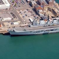 HMS Illustrious: Photo courtesy of MOD